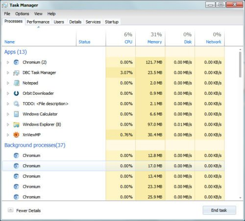 DBC Task Manager