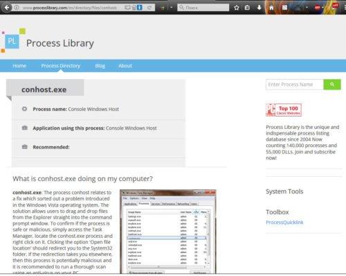 Страница сайта ProcessLibrary.com