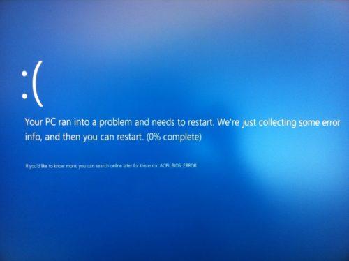 Синий экран смерти в Windows