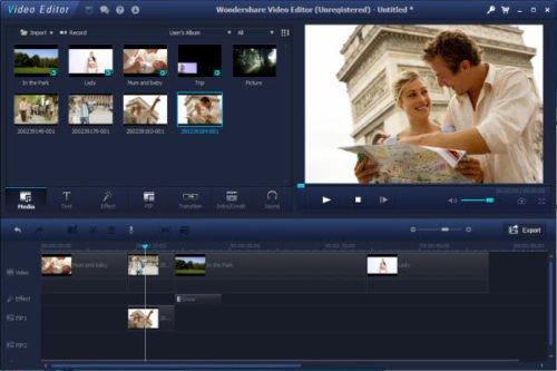 Интерфейс программы Wondershare Video Editor