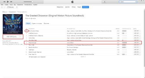 Информация об альбоме в iTunes