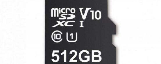 Карта памяти microSD на 512 Гб