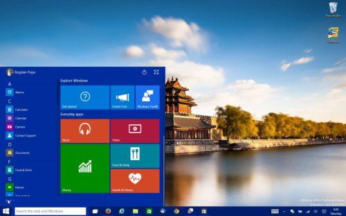 Начальный экран Windows 10