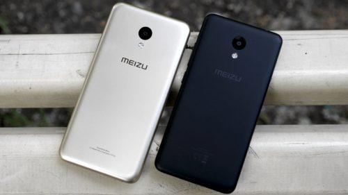 Смартфоны Meizu серебристого и черного цвета