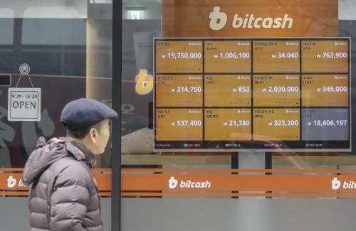 Табло курса биткоина в японии