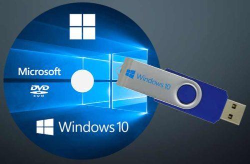 Диск и флешка восстановления Windows 10
