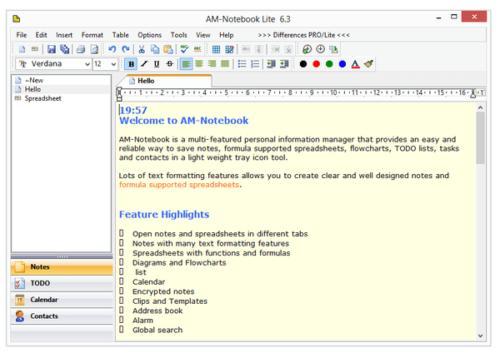 Программа AM Notebook