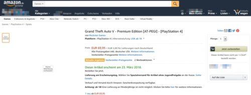 Скриншот Amazon