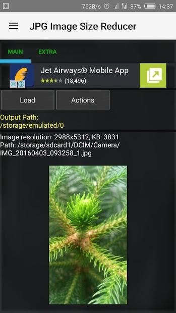 Image Size Reducer готов обработать картинку