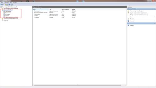 Категории журнала событий на Windows 10