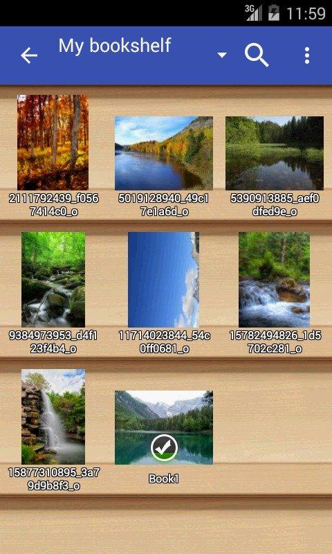 Perfect Viewer отображает картинки в виде эскизов