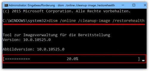 Процесс восстановления (DISM) компонентов Windows через окно команд