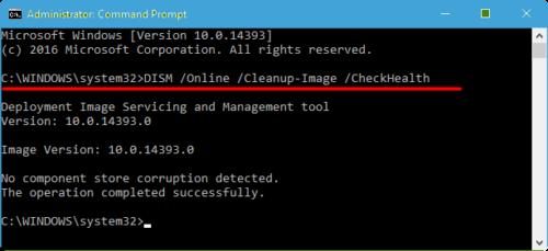 Сканирование отдельных системных компонентов Windows через окно команд