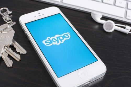 Приложение Skype на iPhone