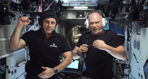 Космонавты Олег Артемьев и Антон Шкаплеров