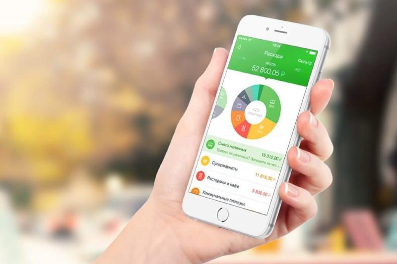 Приложение Сбербанк на смартфоне