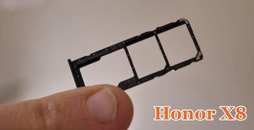Слот для карты памяти в Honor 8x