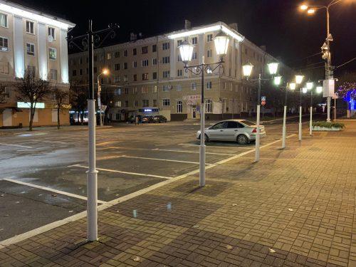Снимок улицы ночью на iPhone XR