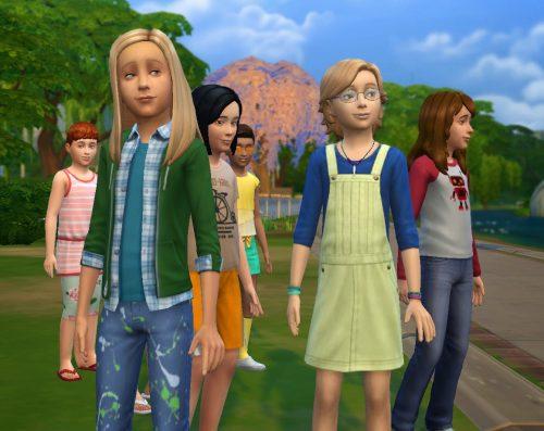 Дети в Sims 4