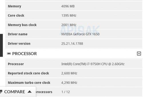 у GeForce GTX 1650