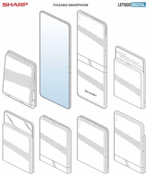 Складной смартфон Sharp