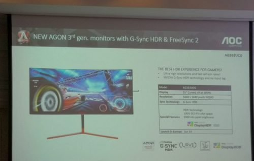монитор AOC Agon AG353UCG поступит в продажу летом