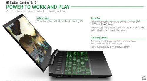 HP Pavilion Gaming 15 и 17