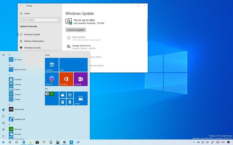 обновление Windows 10 2019