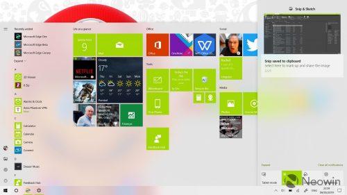Новая тема Windows 10