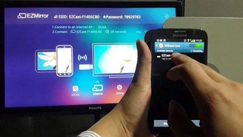 как вывести экран смартфона на телевизор