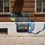 Граффити на стене дома — снимок с камеры 48 Мп
