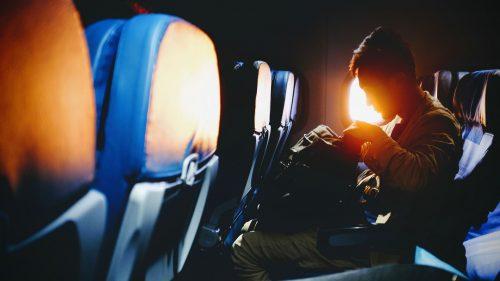 Человек в самолёте