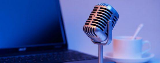 Микрофон и ноутбук